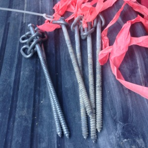 used and new hex bolts